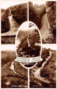 Famous Hills of North Devon Dean Steep, Lynton Hill, Porlock Hill