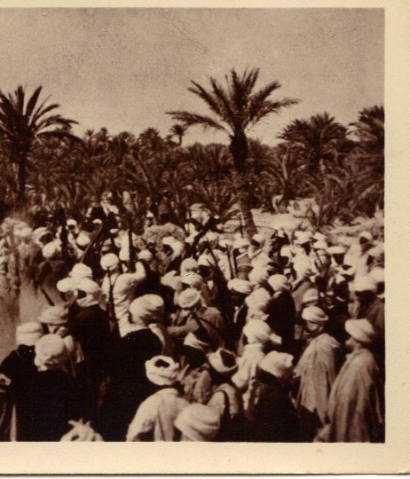 Algeria Scenes ET Types Fantasia Guerrilla Warfare Gun Battle Vintage Real Photo