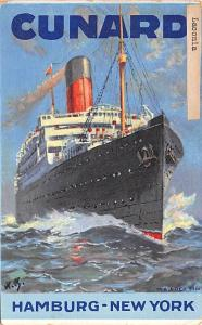 White Star Line Cunard Ship Post Card, Old Vintage Antique Postcard Laconia, ...
