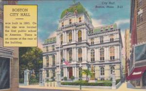Massachusetts Boston City Hall 1952