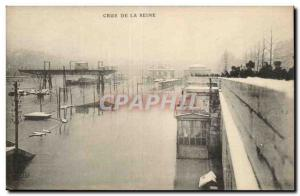 Postcard Ancient Floods flooding of the Seine Paris