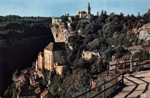 France Rocamadour Eglises ur le Maisons Chateau Castle Panorama General view