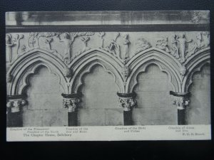 SALISBURY CATHEDRAL Chapter House Gothic CREATION OF THE EARTH - Old Postcard