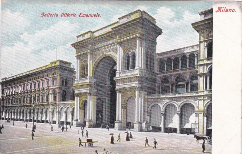 MILANO, Lombardia, Italy, 1900-1910's; Galleria Vittorio Emanuele