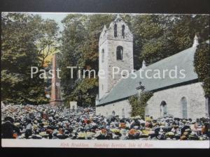 Old PC - KIRK BRADDAN, Sunday Service, Isle of Man