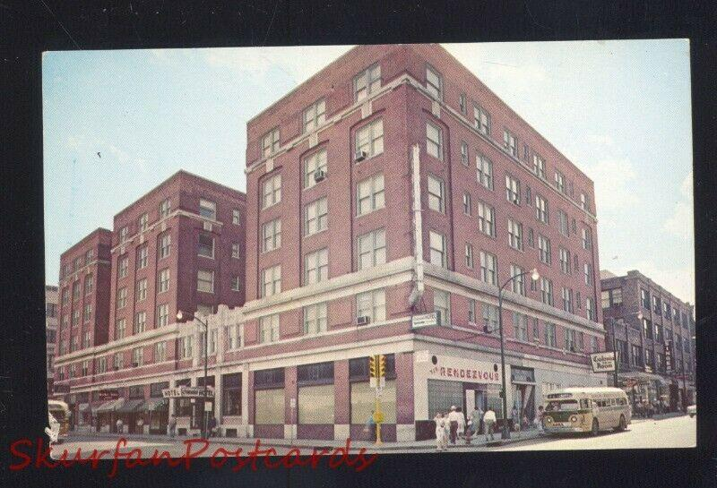 SPRINGFIELD MISSOURI DOWNTOWN GREYHOUND BUS DEPOT VINTAGE POSTCARD MO.