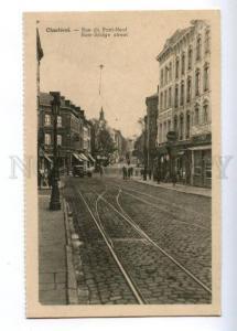 173383 BELGIUM CHARLEROI New-Bridge street Vintage postcard