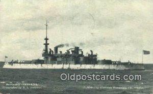 Battleship Indiana Military Battleship 1909 corner wear postal used 1909