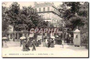 Bordeaux - The Public Garden - grille & # 39Entree - Old Postcard