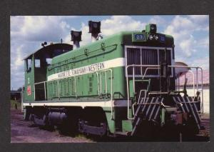 WI Marinette Tomahawk & Western Railroad Train Loco 23 RR WISCONSIN RR Postcard