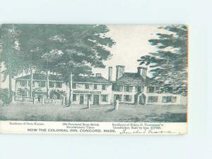 c1910 OLD BUILDINGS GROUPED TOGETHER AS COLONIAL INN Concord - Boston MA G9267