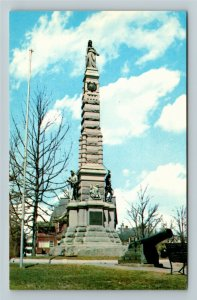 Nashua NH- New Hampshire, Soldier's and Sailor's Monument, Chrome Postcard