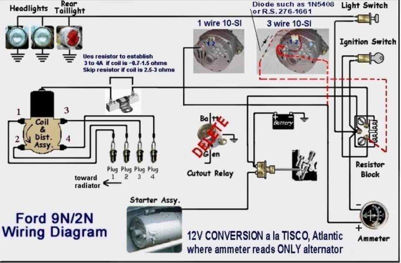 FORD 9N 2N TRACTOR 12V CONVERSION WIRING DIAGRAM 12 VOLT / HipPostcardHipPostcard