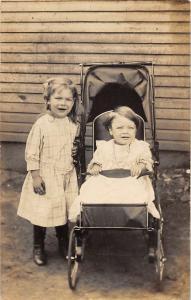 Braeburn Pennsylvania Children Baby Real Photo Antique Postcard K7876474