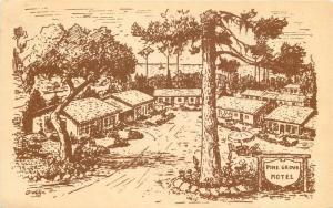1930s Pine Grove Motel roadside Postcard Pacific Grove California Tribune 11446