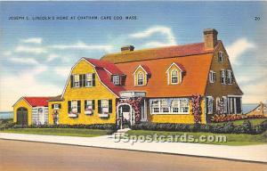 Joseph C Lincoln's Home at Chatham Cape Cod MA Paper on back