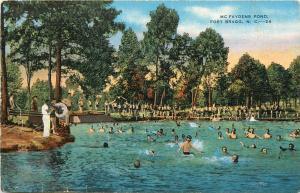 McFaydens Pond Fort Bragg North Carolina NC US Military Postcard