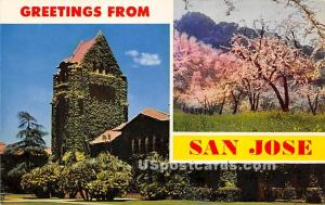 San Jose, California CA Postcard