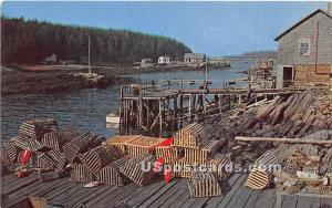 Typical Maine Fishing Village Misc ME Unused