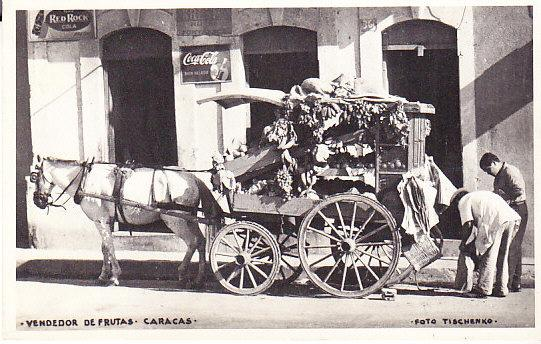 Caracas, Venezuela - Fruit Vendor's Horse Drawn Cart