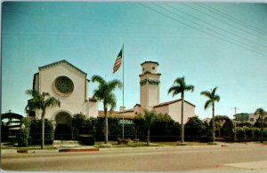 Mottell's & Peeks Mortuaries 3rd & Alamitos Long Beach California Postcard