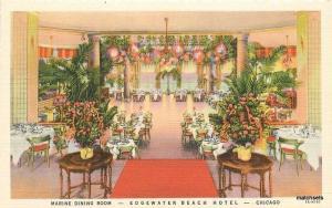 1930s Interior Edgewater Beach Hotel Interior Chicago Illinois Teich linen 7074