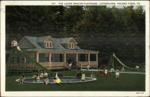 Pocono Pines PA Laura Dahlen Playhouse Lutherland c1920 Postcard