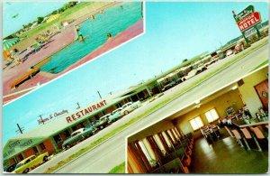 TULSA, Oklahoma ROUTE 66 Roadside Postcard Town & Country Motor Hotel c1960s