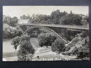 New Zealand Waikato Region HAMILTON TRAFFIC BRIDGE c1910 RP Postcard