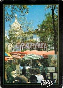 Modern Postcard Paris Sacre Coeur Place du Tertre