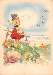 Fantasy, Folk Costume, Art, Kunst nach einem Entwurf von Charlotte Baron 1911