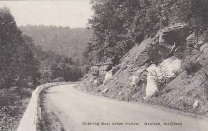 Maryland Oakland Entering Bear Creek Hollow Albertype