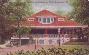 SPRINGFIELD, Illinois; Pavilion at Washington Park, PU-1911