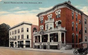 A97/ Kalamazoo Michigan Mi Postcard c1910 Majestic Theatre Elks Club Building