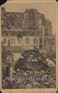 Bild der Verwustung durch die Englander St Quentin Germany Unused