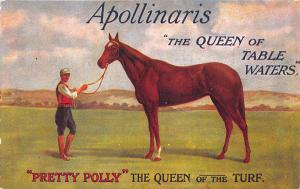 Apollinaris Pretty Polly Horse Queen of Table Waters Tuck Advertising Postcard