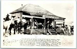 Vintage Texas RPPC Real Photo Postcard Judge Roy Bean Office View - 1940s Print