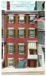 1910's The House Where Abraham Lincoln Died Washington DC PC2024