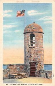 USA Watch Tower, Fort Marion, St. Augustine, Fla. 1933