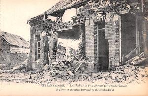 Albert Belgium, Belgique, Belgie, Belgien Street of the town destroyed by the...