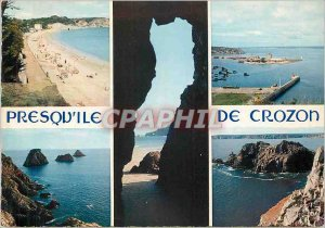 Postcard Modern Crozon peninsula Cave of the Peninsula Morgat Beach port Came...