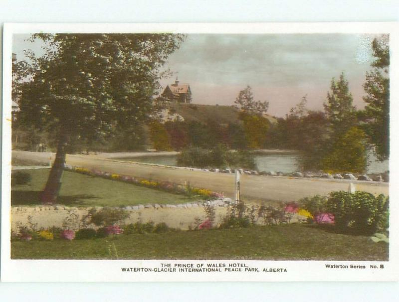 old rppc PRINCE OF WALES HOTEL Waterton Park - Near Lethbridge Alberta AB W0806