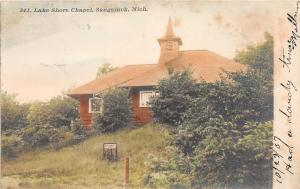 F8/ Saugatuck Michigan RPPC Postcard 1907 Lake Shore Chapel