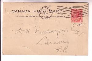 Canadian Postal Stationery George V 2Cent Red, Letter About Eggs, Halifax - L...