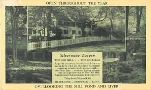 Four Views 1942 Postcard of Silvermine Tavern in Norwalk CT