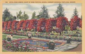 Royal Rose Arbor Court Of Rose Festival Queen Lamberty Gardens Portland Oregon