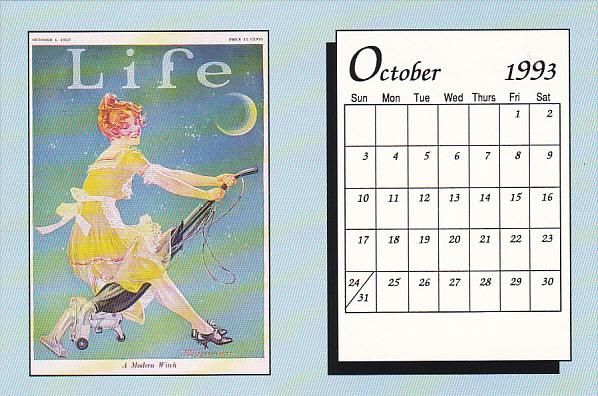 October 1993 Limited Editon Calendar Card