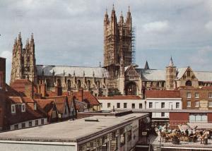 Canterbury Kent Rooftop Cafe Restaurant 1960s Postcard