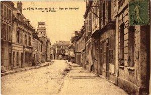 CPA FERE-en-TARDENOIS Rue du BOURGET et la Poste (665658)
