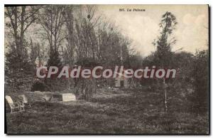 Postcard Old Conde Ste Libiaire S and M Hotel Restaurant lawn